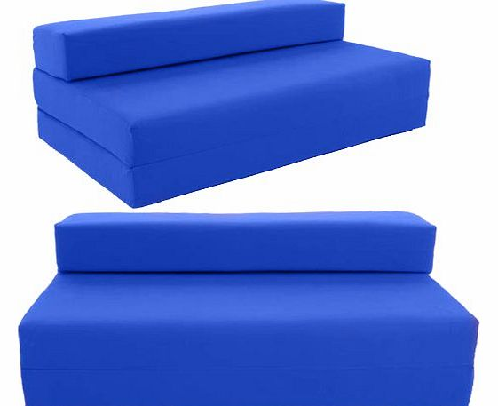 Double Sofa bed Chair bed futon Chairbed by Gilda® - Royal Blue Indoor/Outdoor Stain Resistant fabric