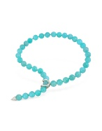 Light Blue Amazonite Pearl Strand Lariat Necklace