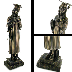 Graduation Figurine Bronze Finished