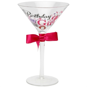 Talk Birthday Girl Cocktail Glass