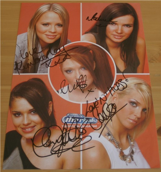 GROUP SIGNED A4 MAGAZINE PAGE