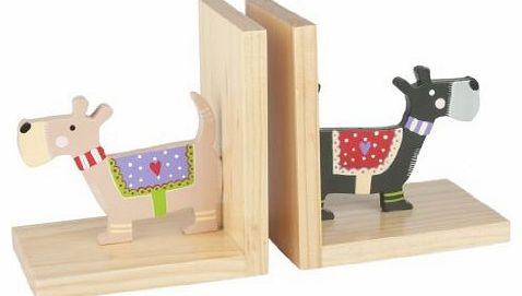 ooden Scottie Dog Book Ends