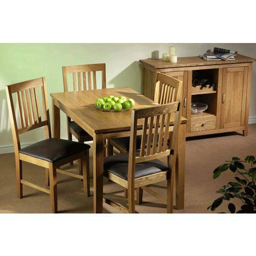 Glasgow Oak Dining Set (4 Chairs + Sideboard)