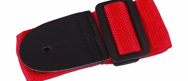 Gleam guitar strap 5 colours ideal for children kids 3/4 size guitars (Cherry RED)