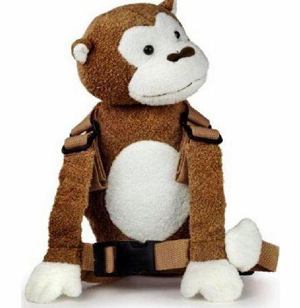 2 in 1 Harness Buddy White Face Monkey