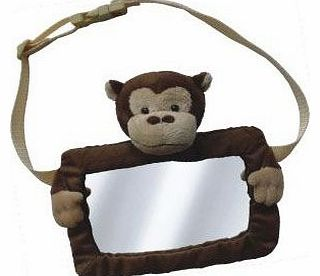 Safe View Mirror Buddy Brown Monkey