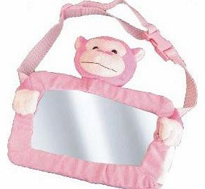 Safe View Mirror Buddy Pink Monkey