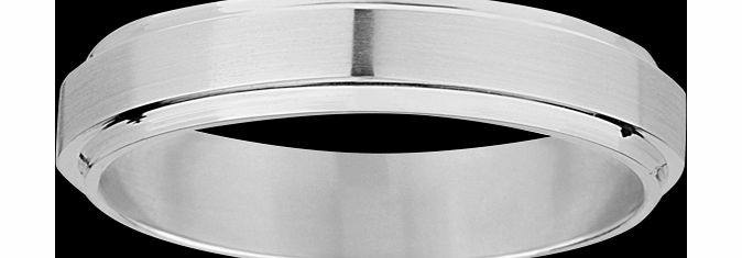 Goldsmiths 6mm gents wedding ring in 18 carat white gold