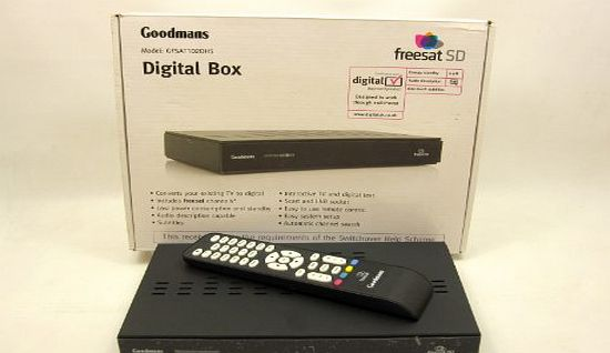 Goodmans GFSAT102DHS Freesat Digital Set Top Box