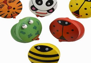 Gosear Chunky Wooden Animal Castanets Kids Childrens Baby Early Education Musical Toys Instruments