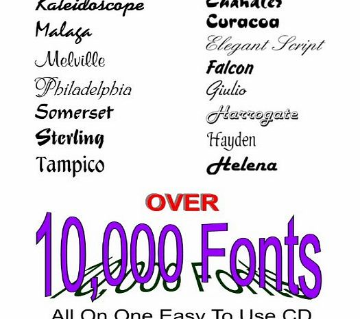 Gotik OVER 10,000 FONTS ON ONE DISC 10000 PLUS A FONT SEARCH TOOL (now with over 14,000 fonts)