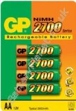 GP 2700mAh AA NiMH Rechargeable Batteries (4 Pk)