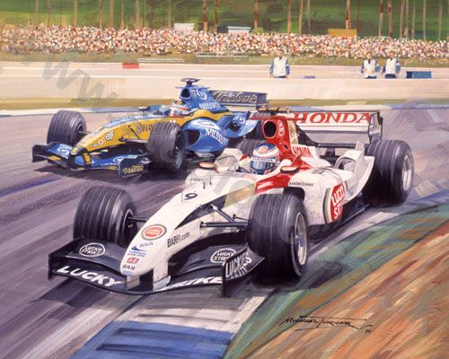 Michael Turner - Podium Performance - Jenson Button Print