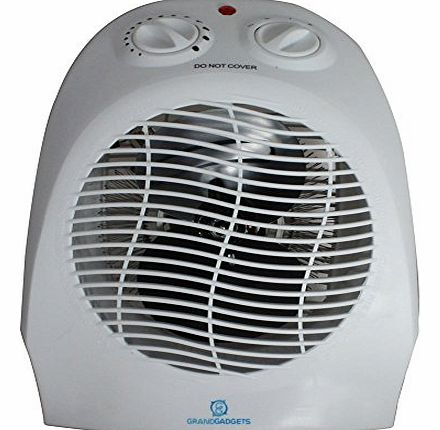 Grand Gadgets GrandGadgets ® DUO Hot and Cold Fan Heater with 2 Heat Settings 1000/2000w with Thermal Cut and Over Heat Protection