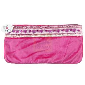 Great Gizmos Pink Poppy Hot Pink Velour Pouch