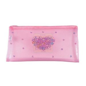 Great Gizmos Pink Poppy Pale Pink Sequin Heart Pouch