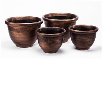 - Pack of 4 Antique Style Planters -