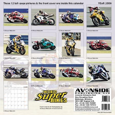 2006 World Superbikes Calendar