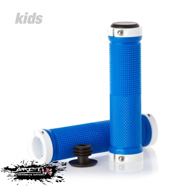 Lock On Scooter Grips - Blue