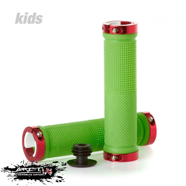 Lock On Scooter Grips - Green