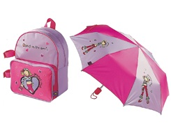 GROOVY CHICK backpack and brolly