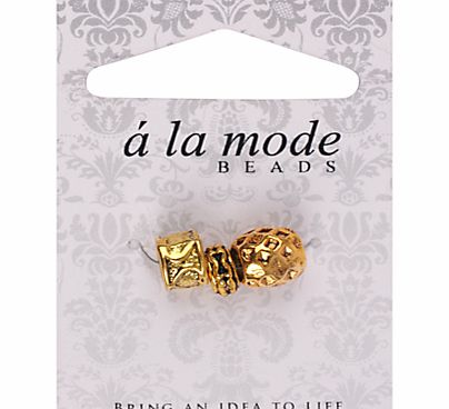 A La Mode Ethnic Charms, Pack of 3, Gold