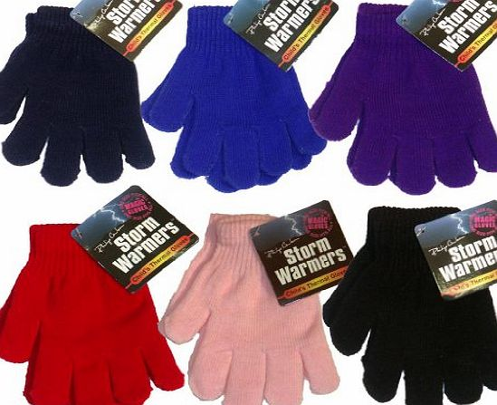 PINK BOYS KIDS GIRLS CHILDRENS MAGIC WINTER GLOVES WARM THERMAL INSULATED