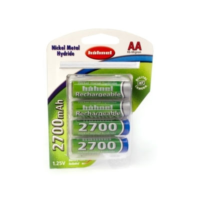 2700mAh AA NiMh Batteries - Four Pack