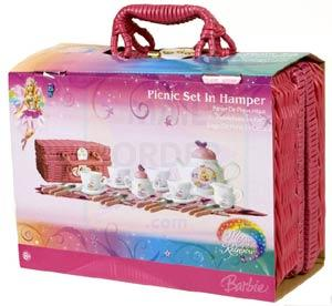 Barbie Fairytopia Magic Of The Rainbow In Hamper Picnic Set