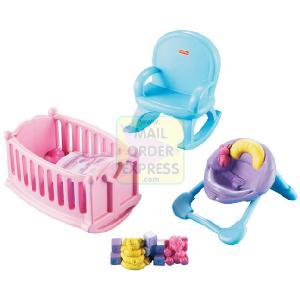 HALSALL - MATTEL Fisher Price My First Doll House Nursery Furniture