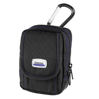 HAMA Camera Case Black and Karabiner Hook (with Blue Detail) - 26264