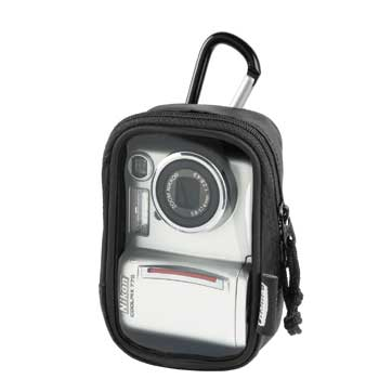 HAMA Camera Case with Clear Front and Karabiner Hook - 26277