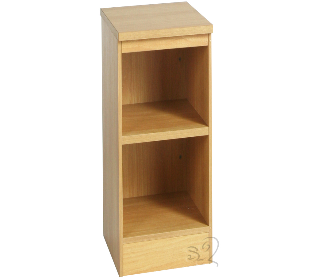 Beech Narrow Bookcase with 1 shelf 660mm