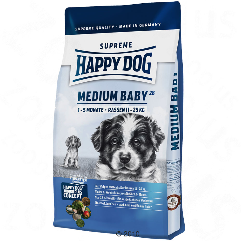 happy dog supreme medium baby 28 10 kg review compare prices buy online. Black Bedroom Furniture Sets. Home Design Ideas