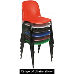 Harmony Polypropylene Chair Red