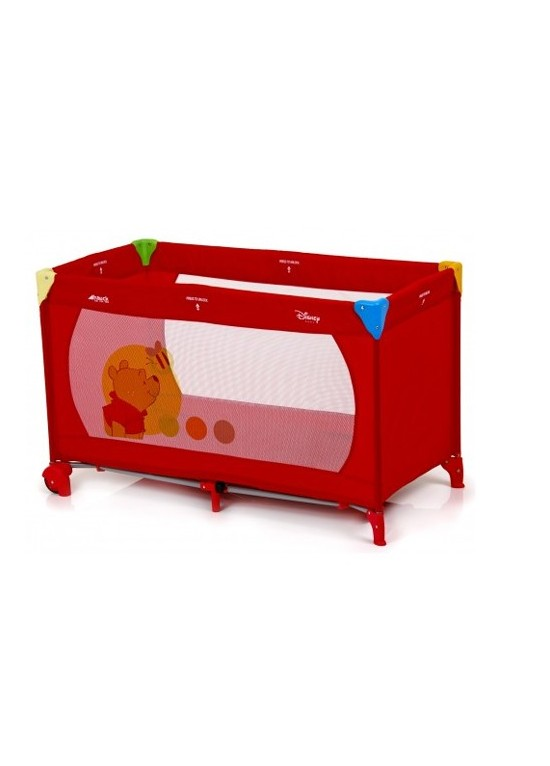 Hauck Dream n Play Go V Travel Cot-Pooh Red