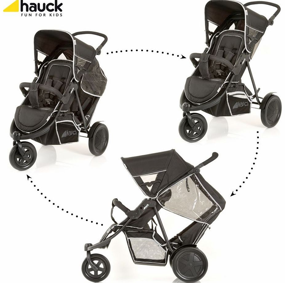 Freerider Twin Pushchair Black 2014