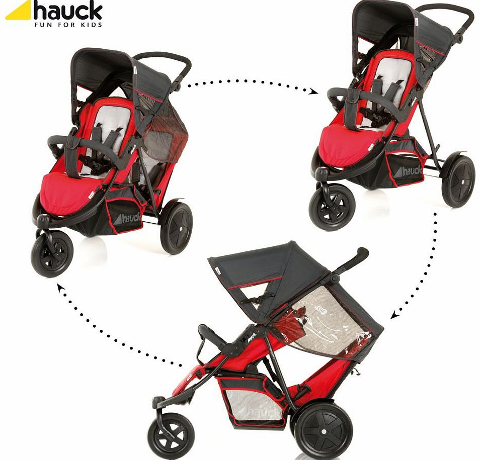 Freerider Twin Pushchair Red 2014