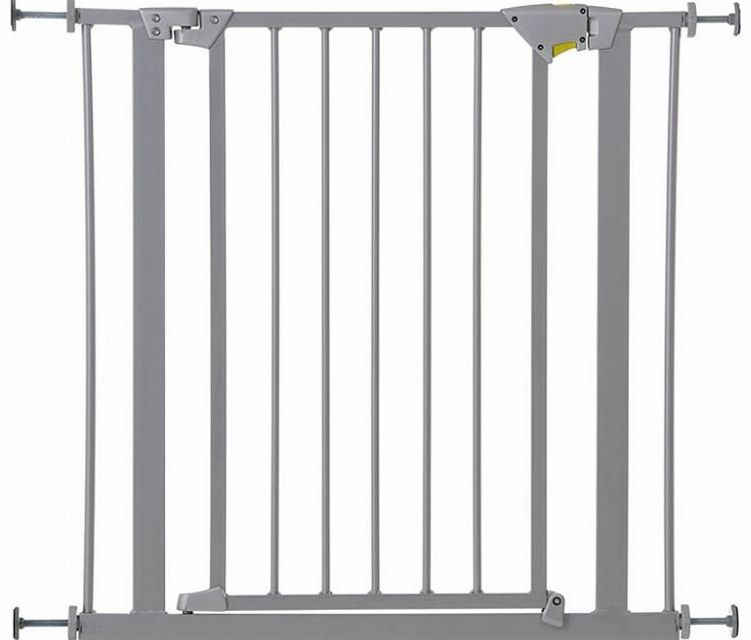 Hauck Trigger Lock Safety Gate-Silver (76-83