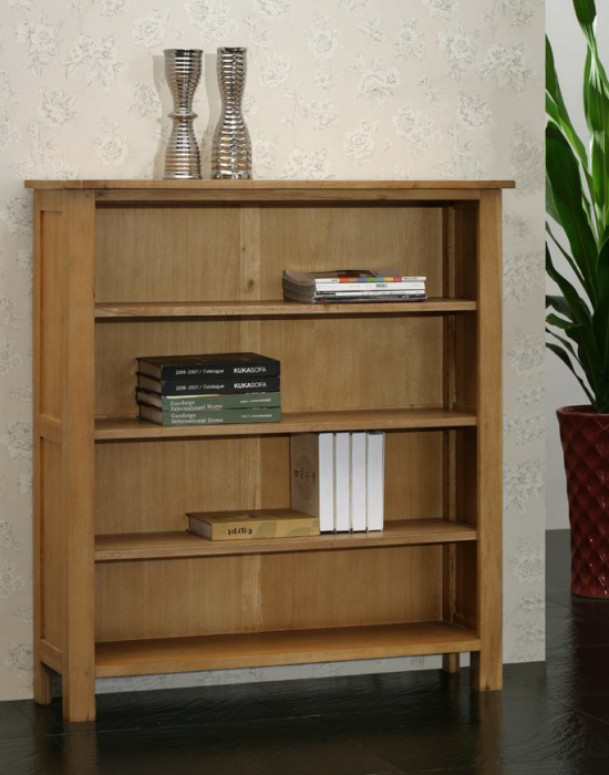 Oak Bookcase with 3 Shelves - Blonde