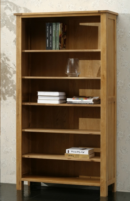 Oak Tall Bookcase with 5 Shelves - Blonde