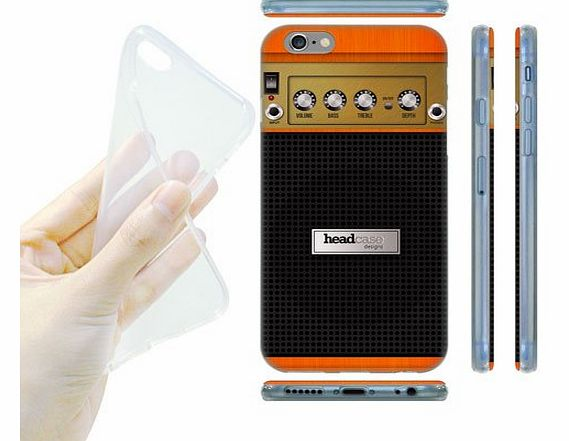Head Case Designs Orange Chorus Guitar Amp Gel Back Case Cover for Apple iPhone 6 4.7
