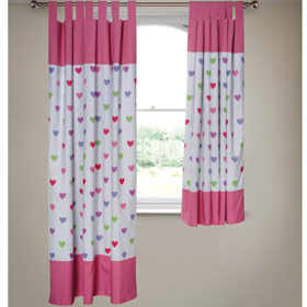 Heart Black Out Tab Top Curtains Review Compare Prices