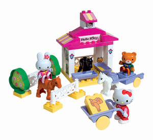 hello kitty Build Your Own Stable - 41 Piece Set