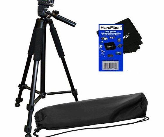 60`` /152.4 Cm Pro Series Lightweight Photo/Video Tripod & Carrying Case for Canon, Nikon, Sony, Olympus, Pentax, Samsung, Panasonic, Kodak, Fujifilm Digital Cameras & Camcorders w/ HeroFiber®