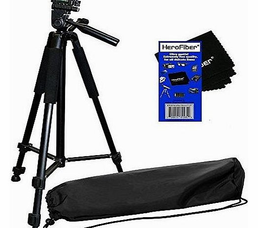 72`` Pro Elite Series Camera/Camcorder Tripod & Deluxe Soft Carrying Case for Canon, Nikon, Sony, Olympus, Pentax, Samsung, Panasonic, Kodak, Fujifilm Digital Cameras & Camcorders w/ HeroFiber®