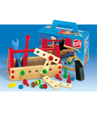 Heros Wooden Toys 30 pc TOOL BOX