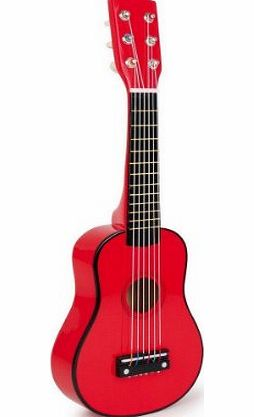 HHL Childs Red Wooden Classic Guitar Musical Toy Instrument 6 Strings