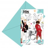 high school musical 2 Party Invitations - 6 in a pack