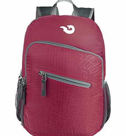 Lightweight Packable Handy Nylon Travel Daypack Folding Traveling Backpack,Wine Red